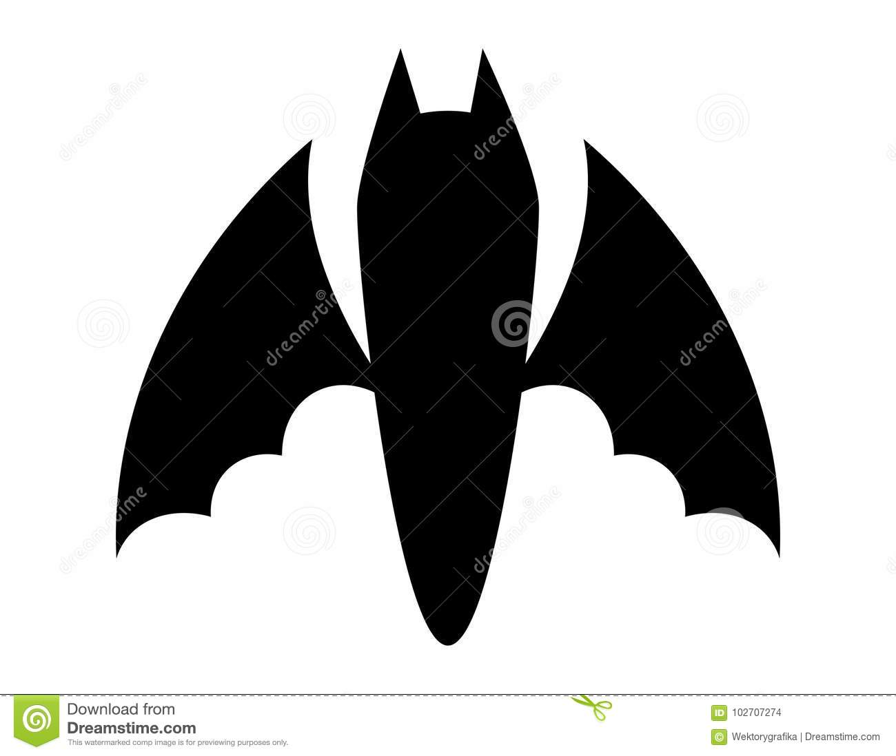 download halloween bat silhouette vector design isolated on white backgr stock vector illustration of holiday