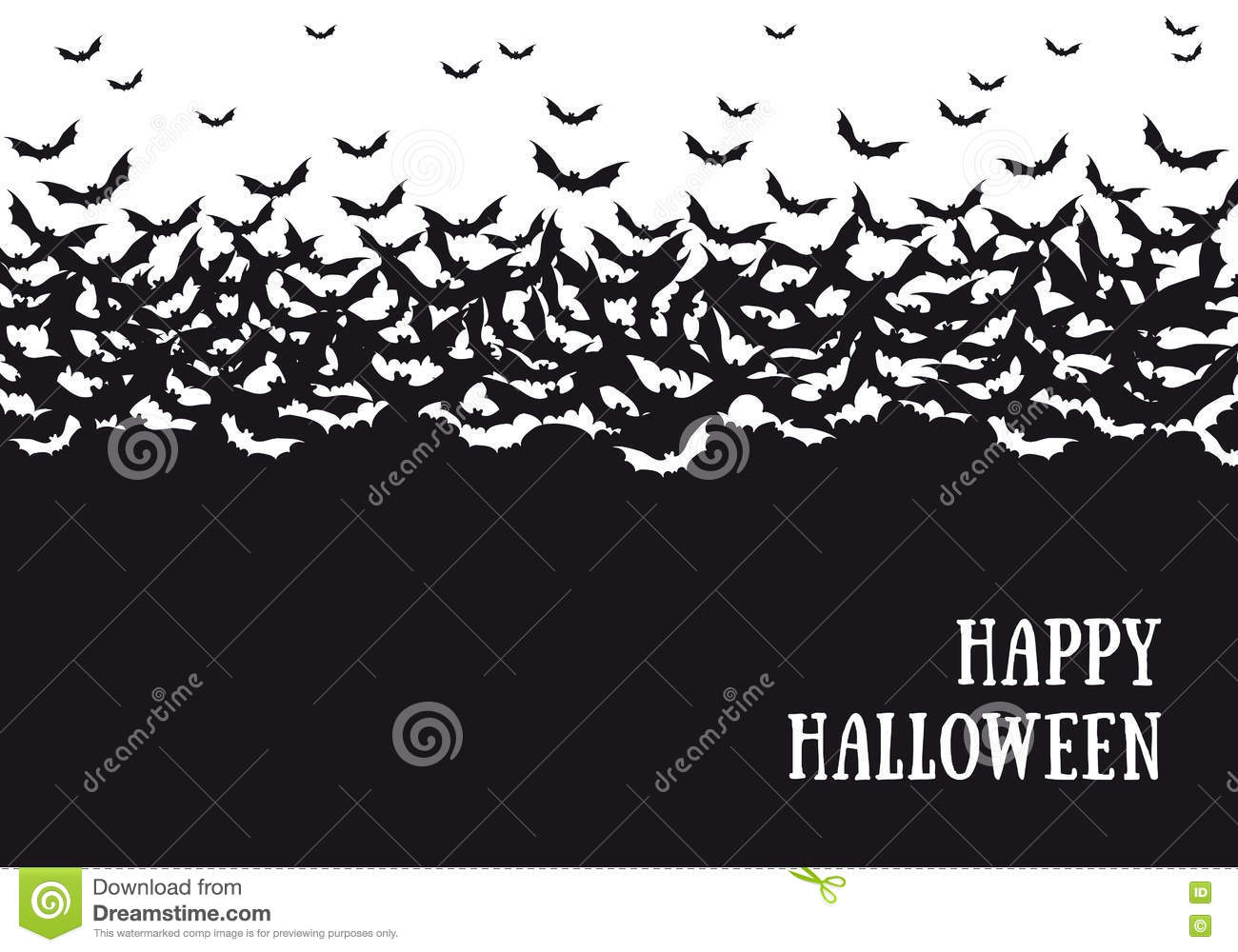 Halloween cute cat background in watercolor Vector  Free