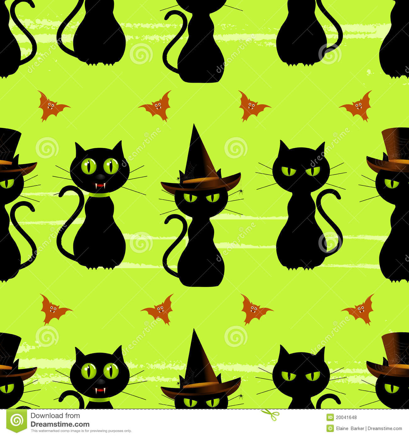 Halloween Black Cat Seamless Background Stock Vector ...