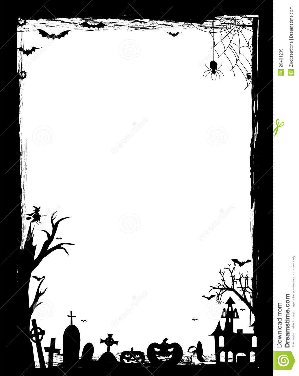 halloween border stock vector. illustration of fantasy - 26401239
