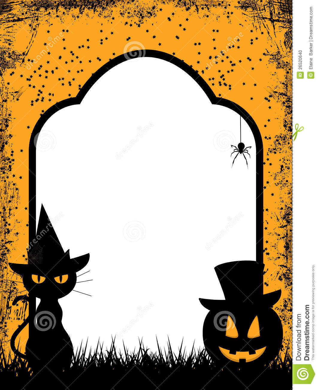Halloween Border Background Stock Photo - Image: 26520640