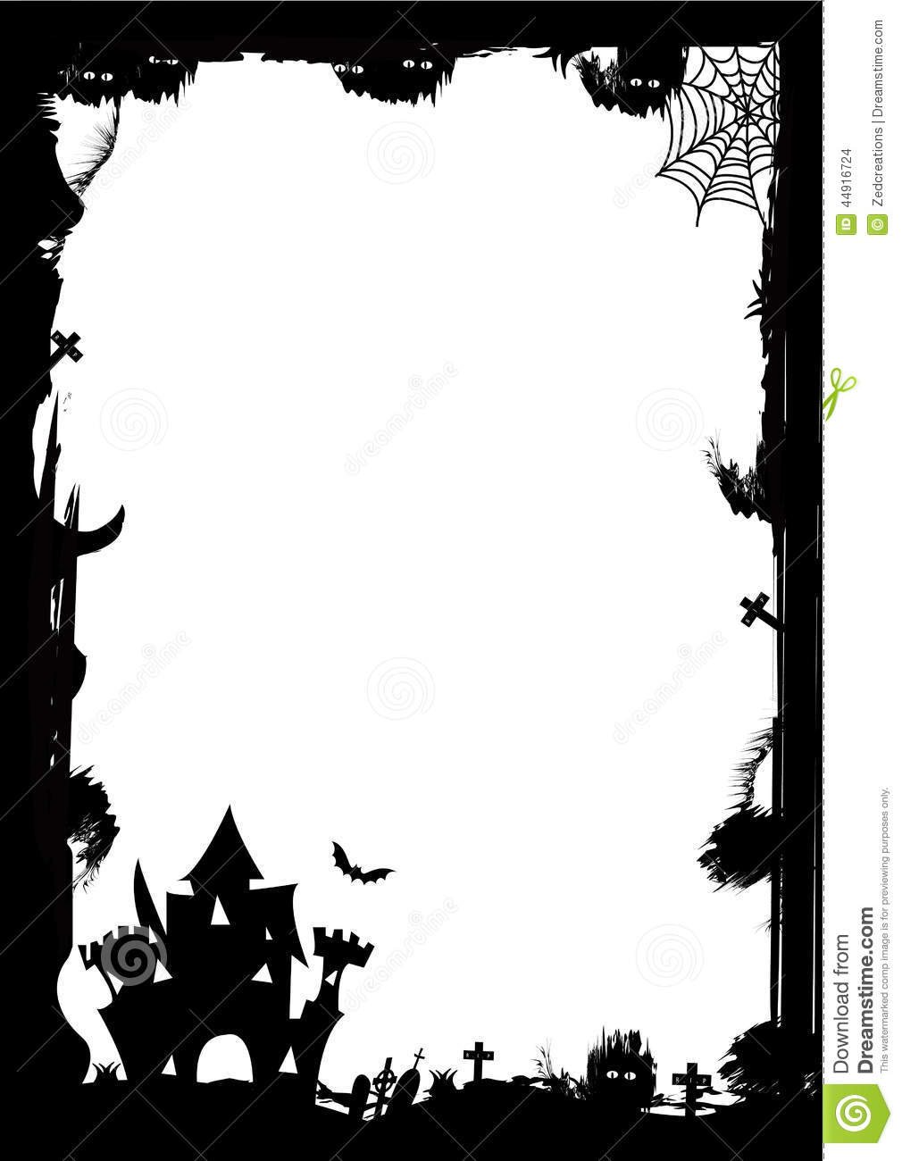 halloween border stock illustration. illustration of design - 44916724