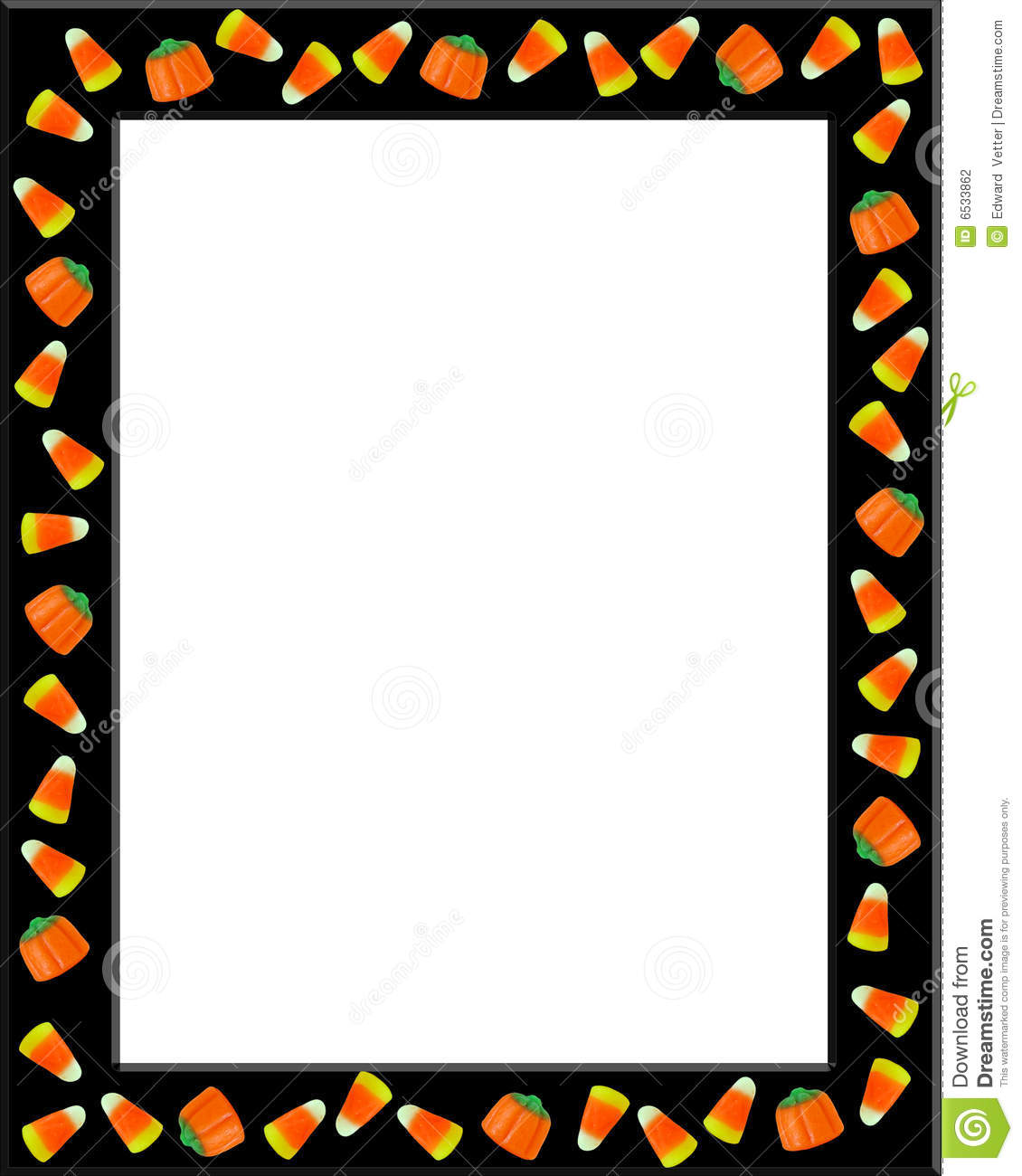 Image and illustration composition of candy corn for Halloween Card ...
