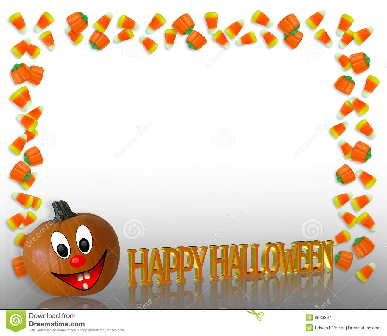 Halloween Border Candy Corn Stock Illustration - Illustration of ...