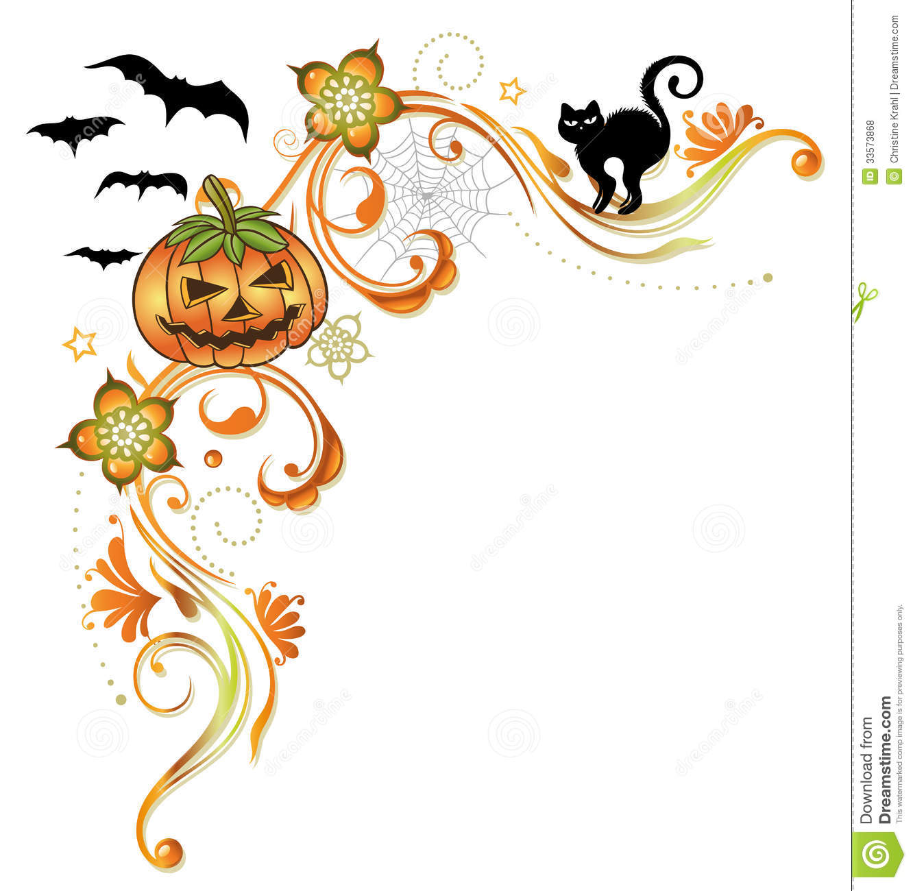 Halloween Border Royalty Free Stock Photos - Image: 33573868