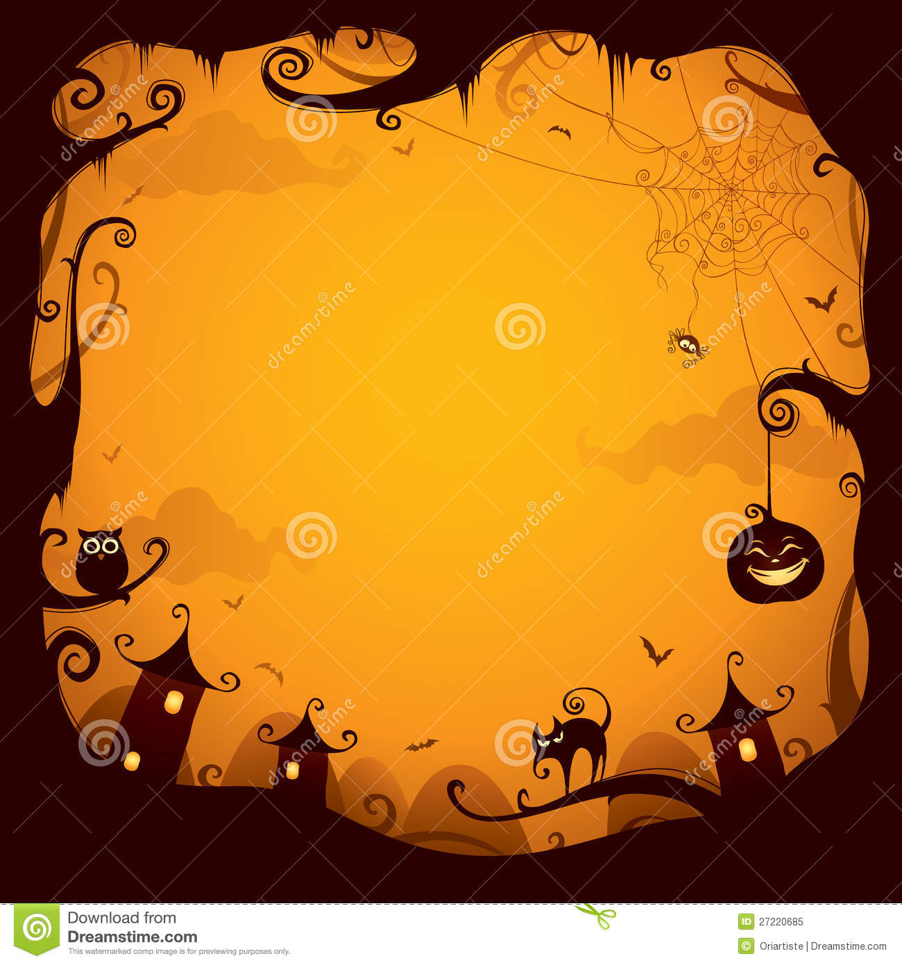 Halloween Border For Design Royalty Free Stock Photo - Image: 27220685