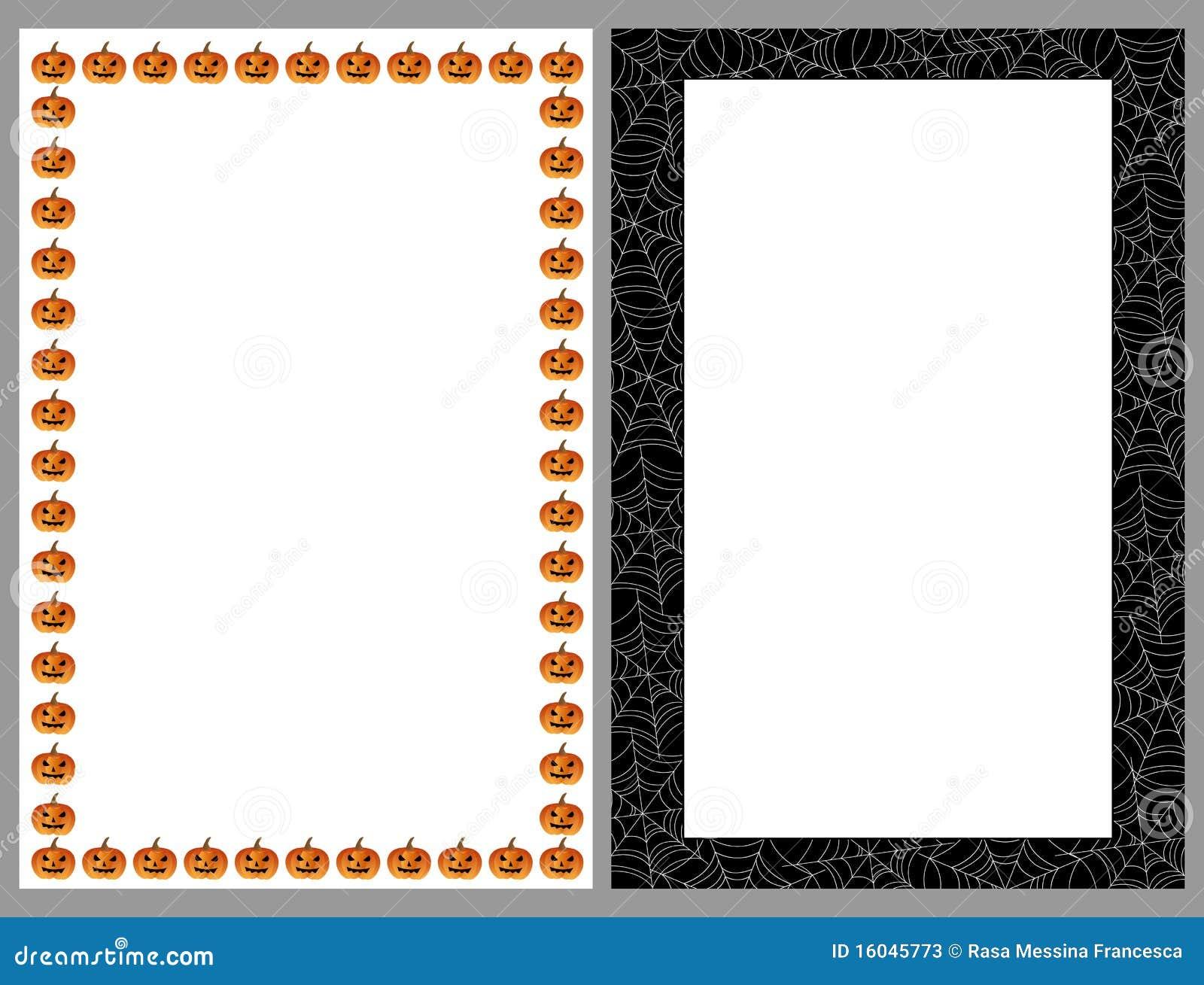 Halloween borders frames