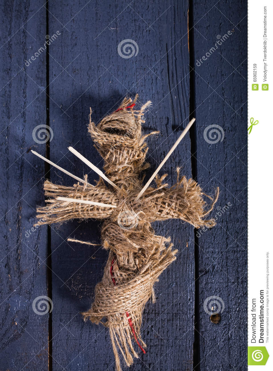 Halloween Burlap Doll Stock Image Image Of Pierced Horror 65902159
