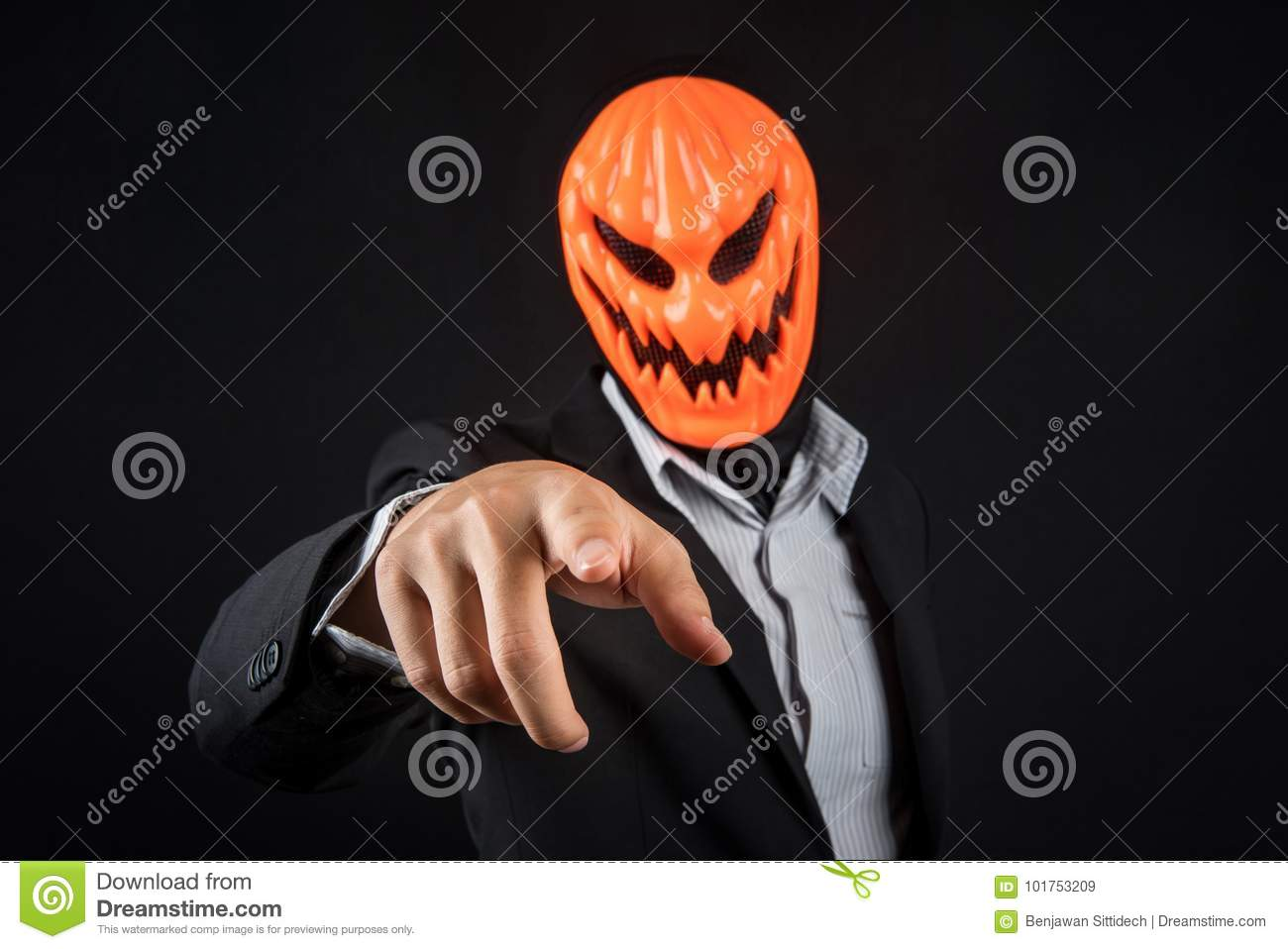 Download comp & Halloween Business Man With Pumpkin Mask Stock Image - Image of ...