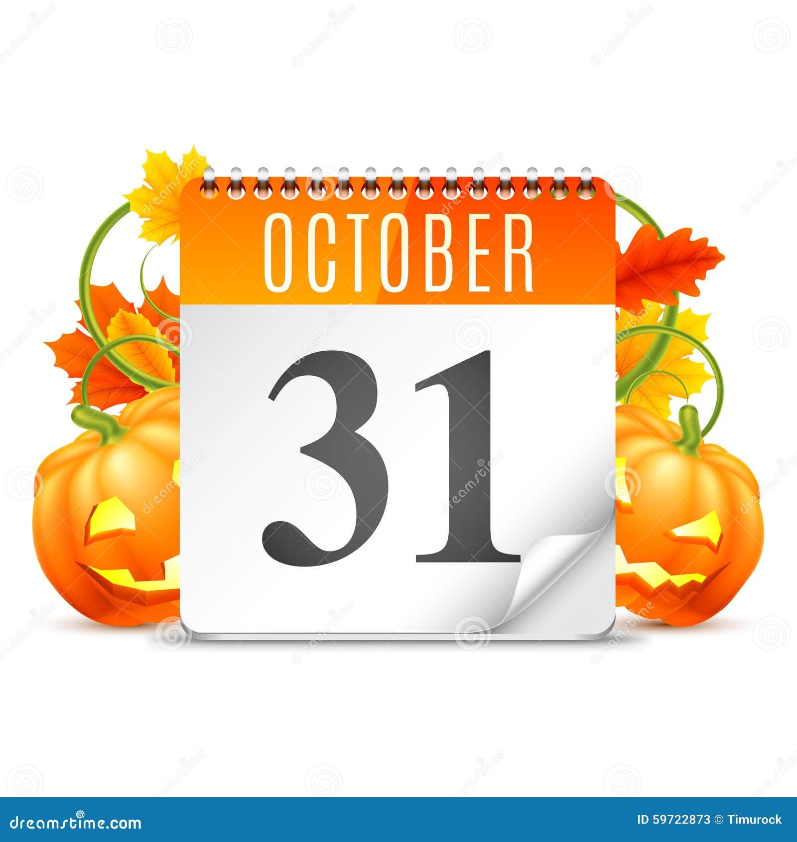 October Calendar Illustration : Halloween calendar stock vector illustration of tree