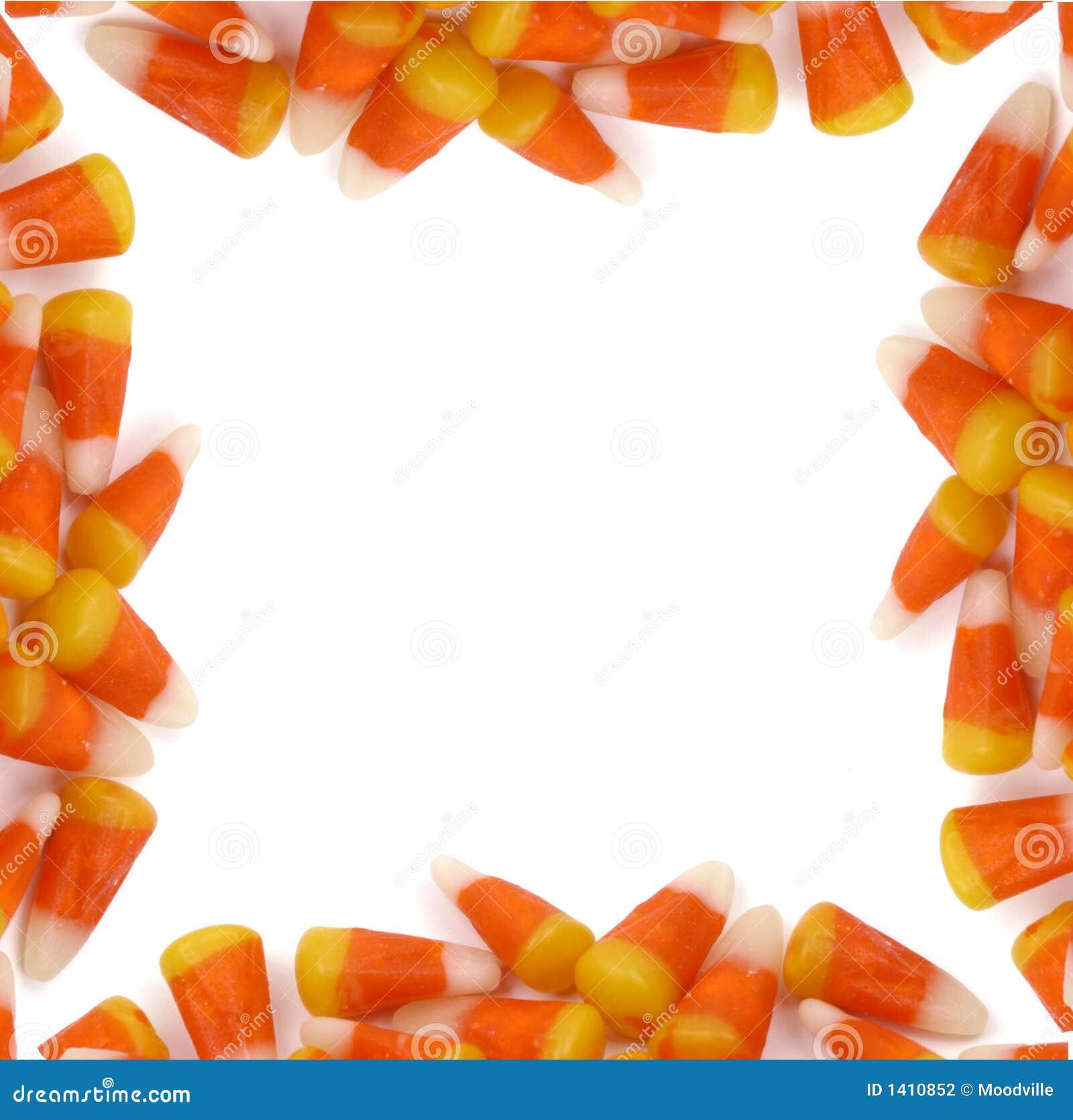 Halloween - Candy Corn Border Stock Photo - Image of autumn, food ...