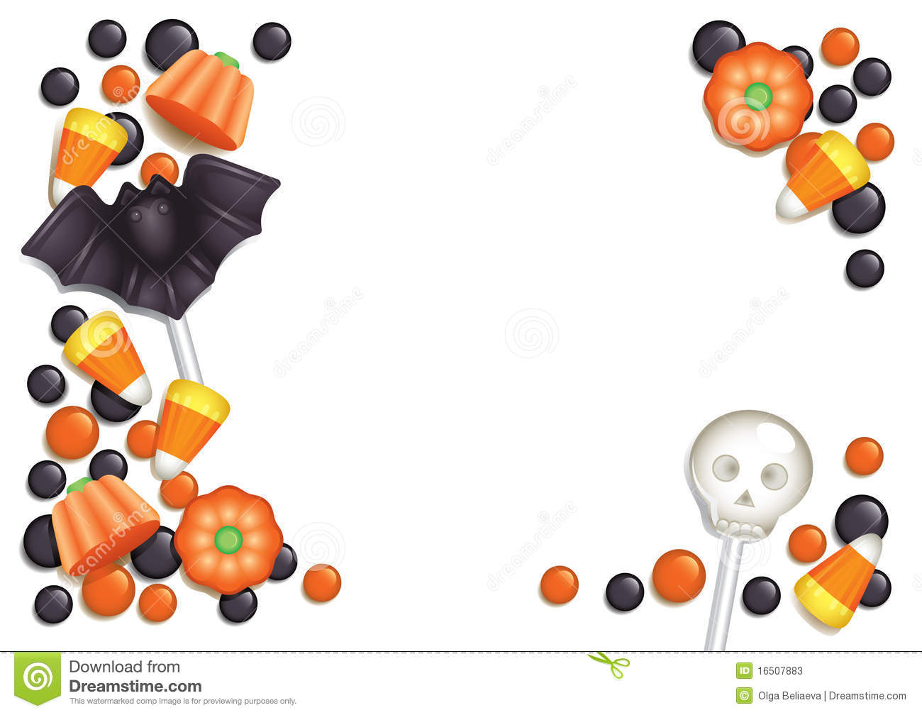 halloween candy postcard stock vector illustration of black and white pumpkins clipart black and white pumpkin clipart and leaves