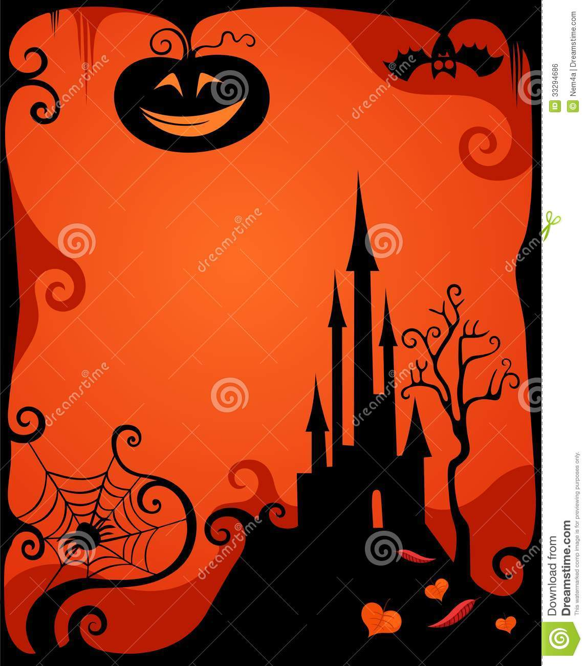 Halloween Card Royalty Free Stock ImageImage33294686