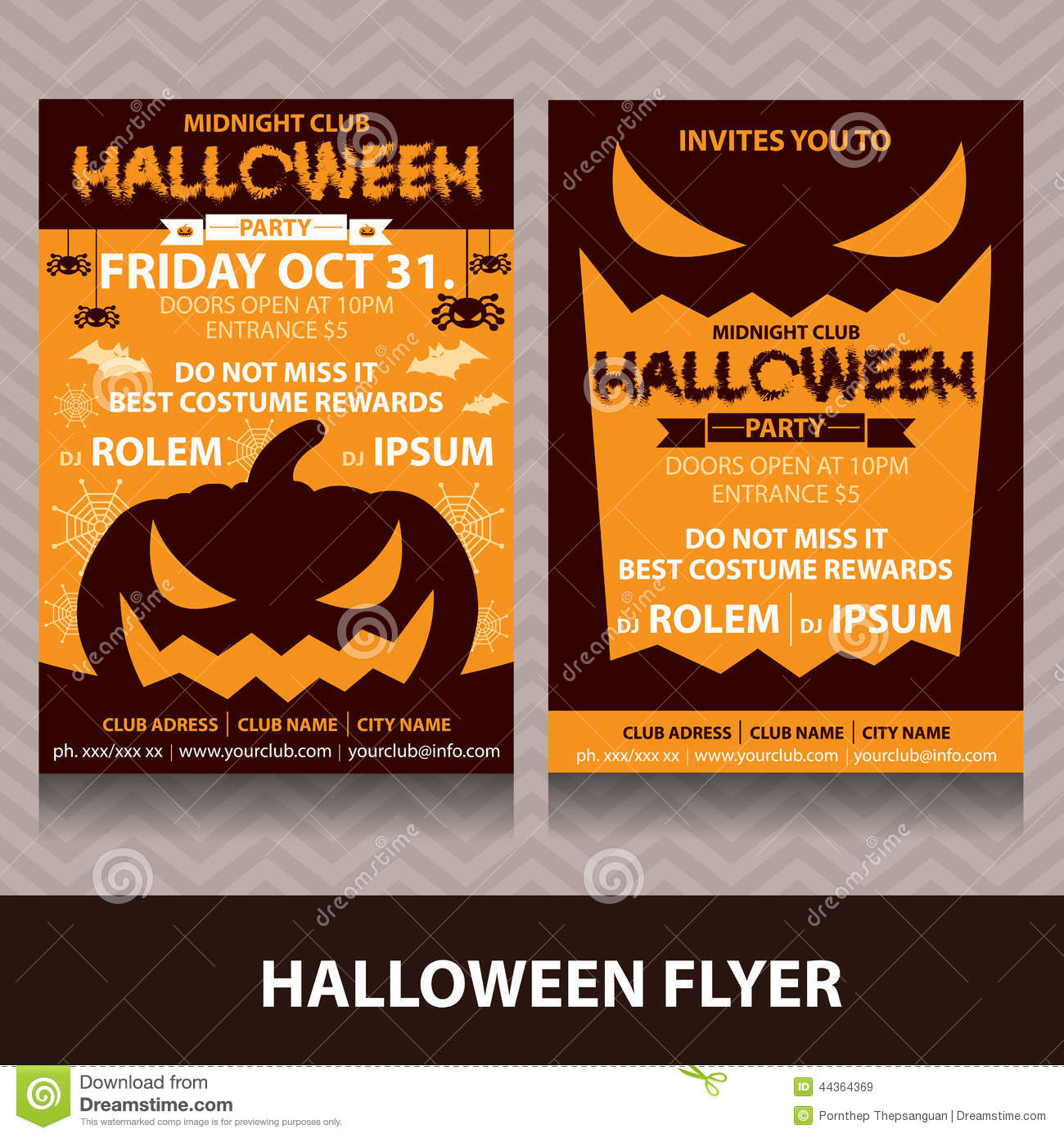 Halloween card stock vector. Image of layout, flat ...