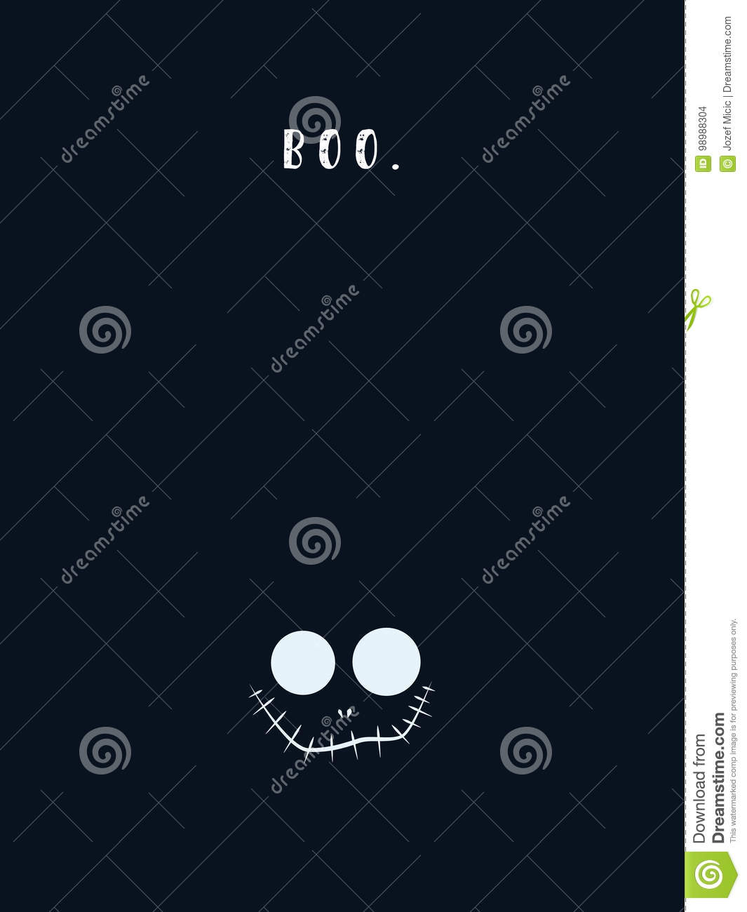 halloween card template with evil devilish grin and mouth in