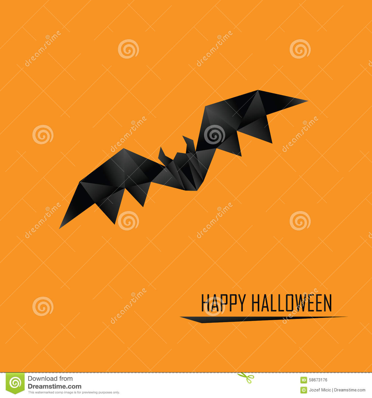 halloween card template low poly design holiday stock vector