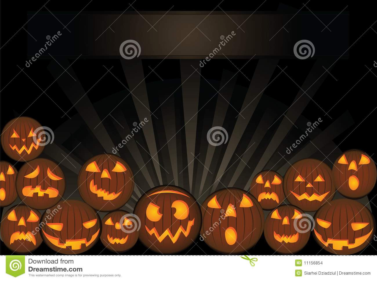 Halloween Card Template - Orange Pumpkins Stock Vector ...