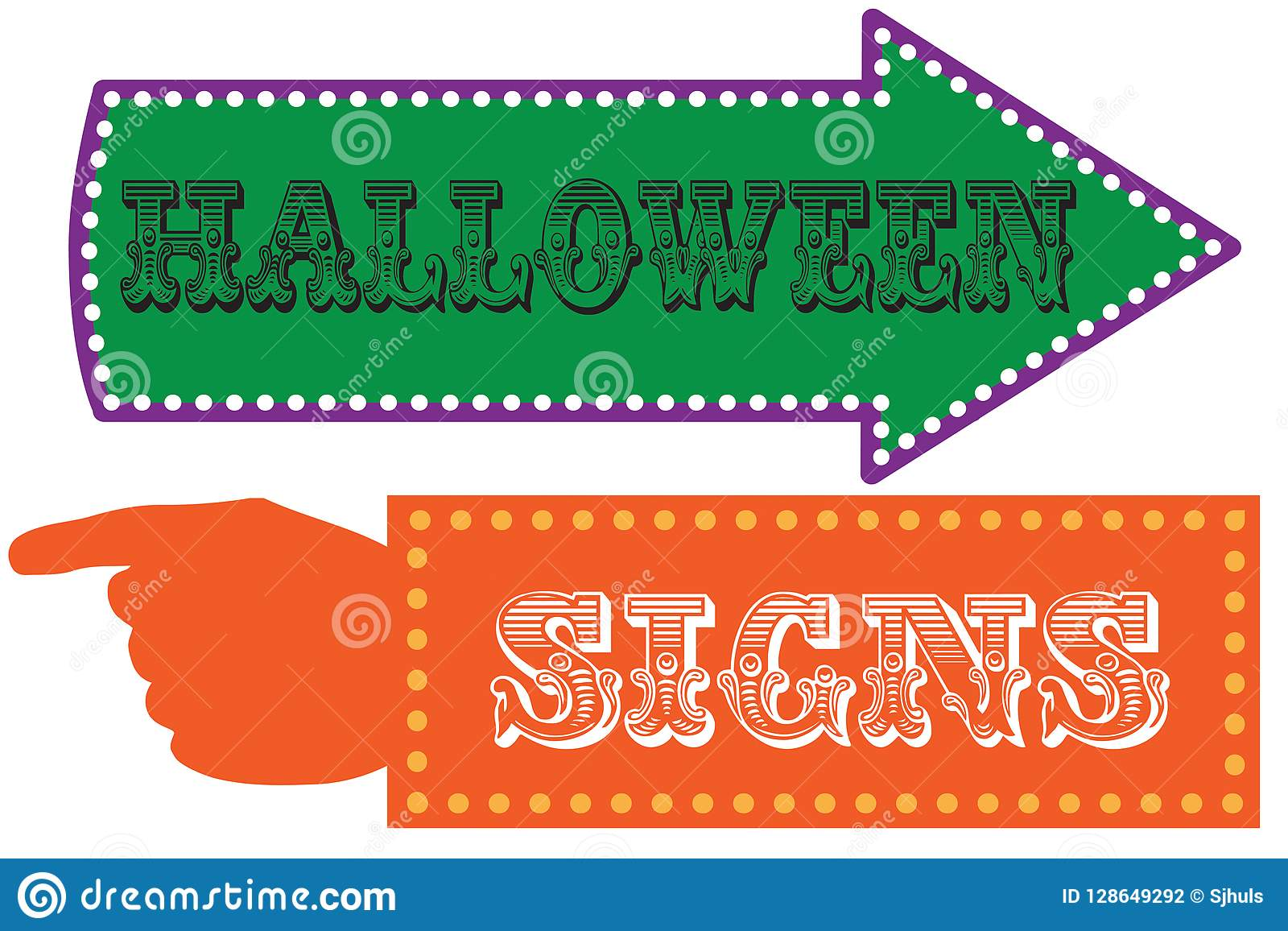 halloween carnival sign template stock vector illustration of