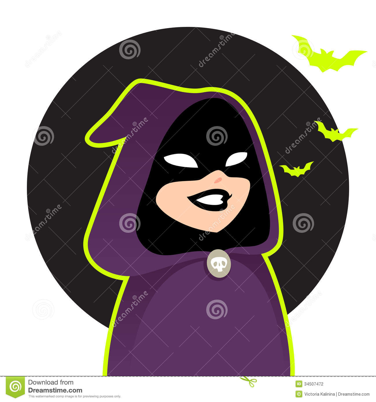 Cartoon Characters Hood : Halloween cartoon character stock vector illustration of