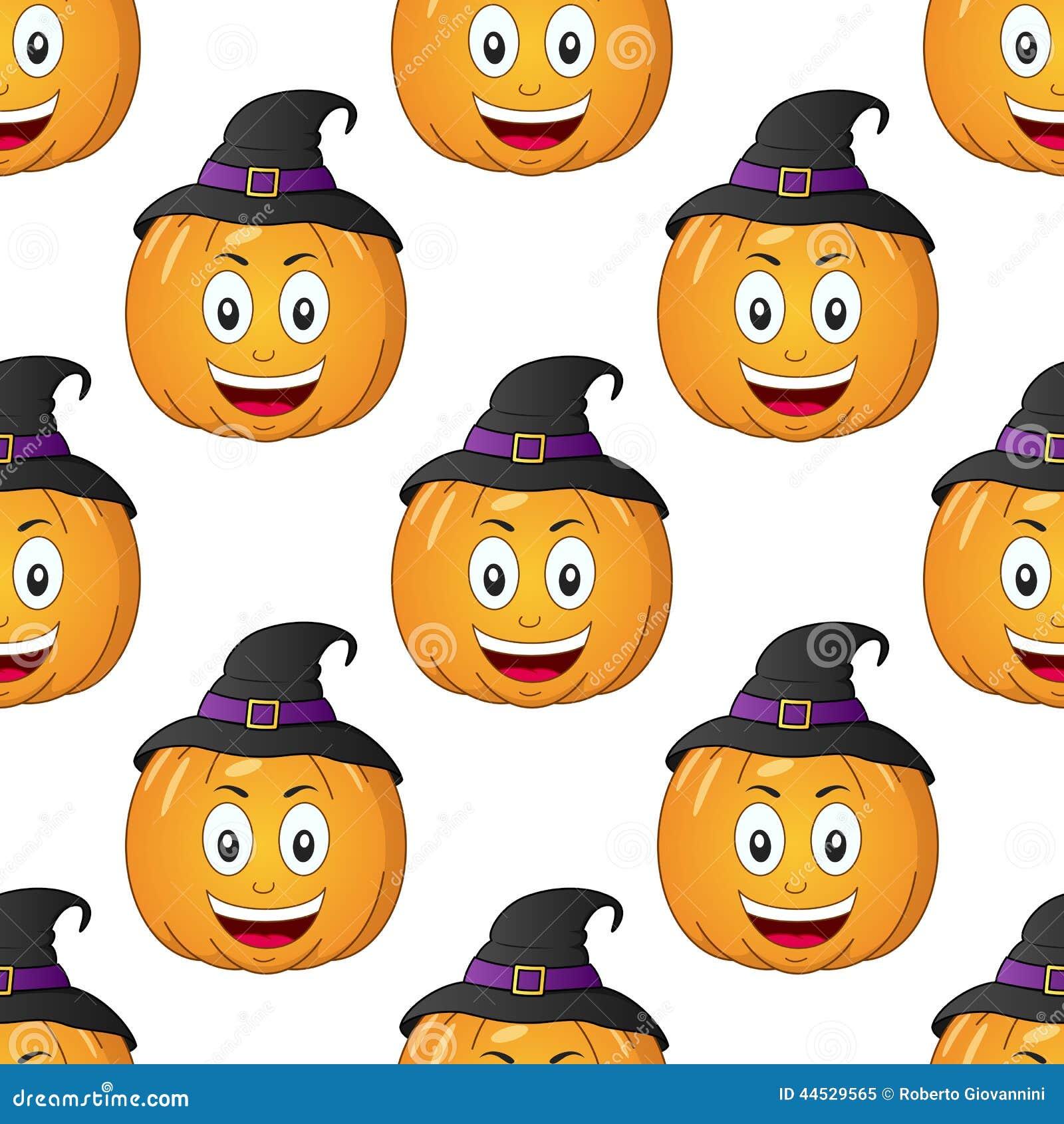 Halloween cartoon pumpkin seamless stock vector image for Cartoon pumpkin patterns