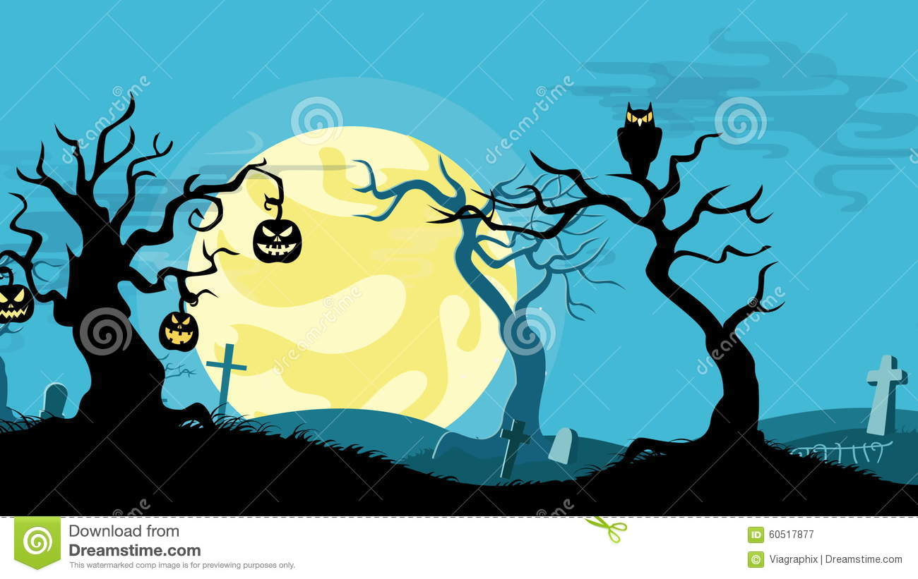 halloween cartoon seamless looped animated background stock video footage - Halloween Background Video