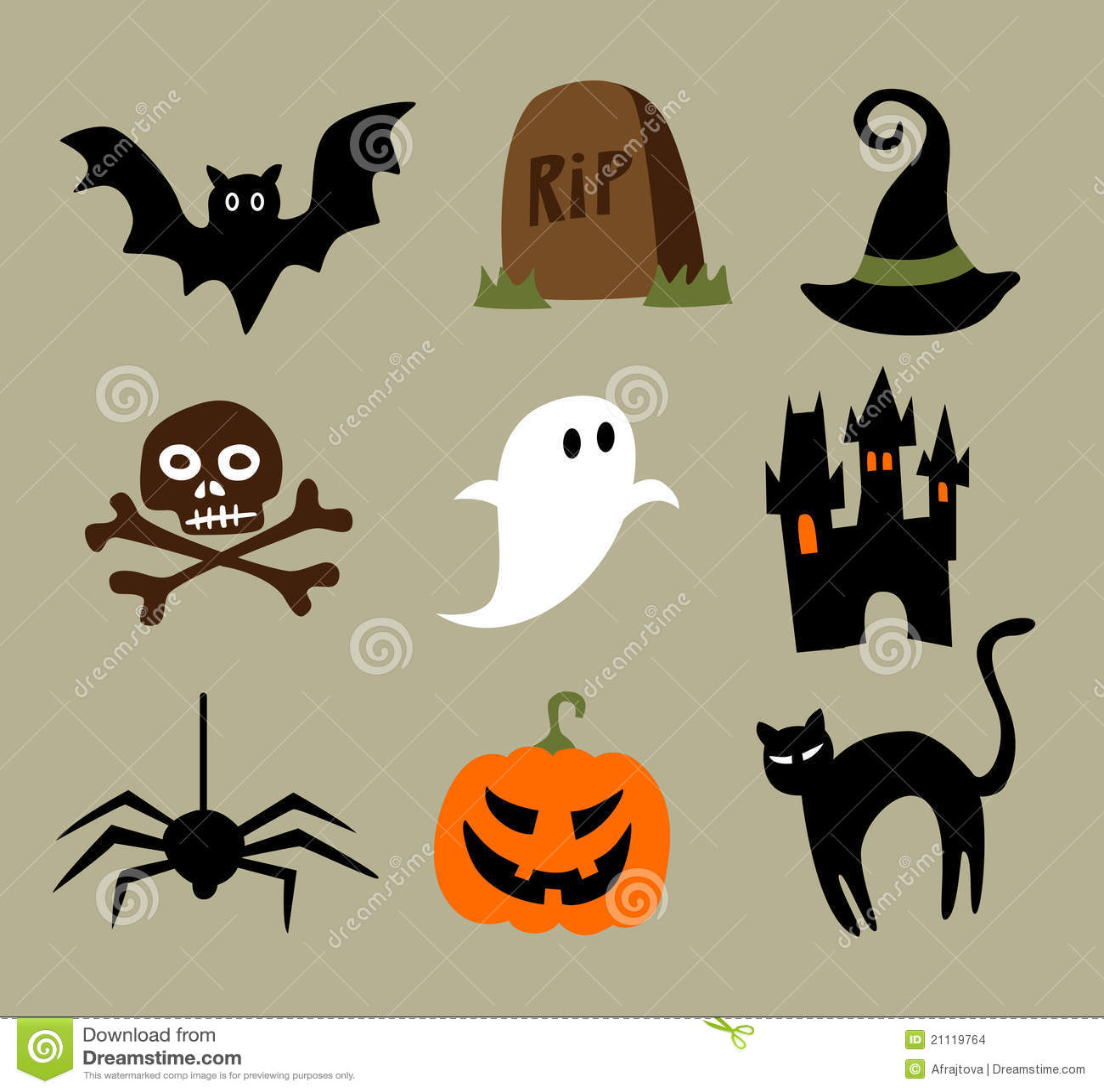 Halloween Cartoons stock vector. Illustration of scary ...