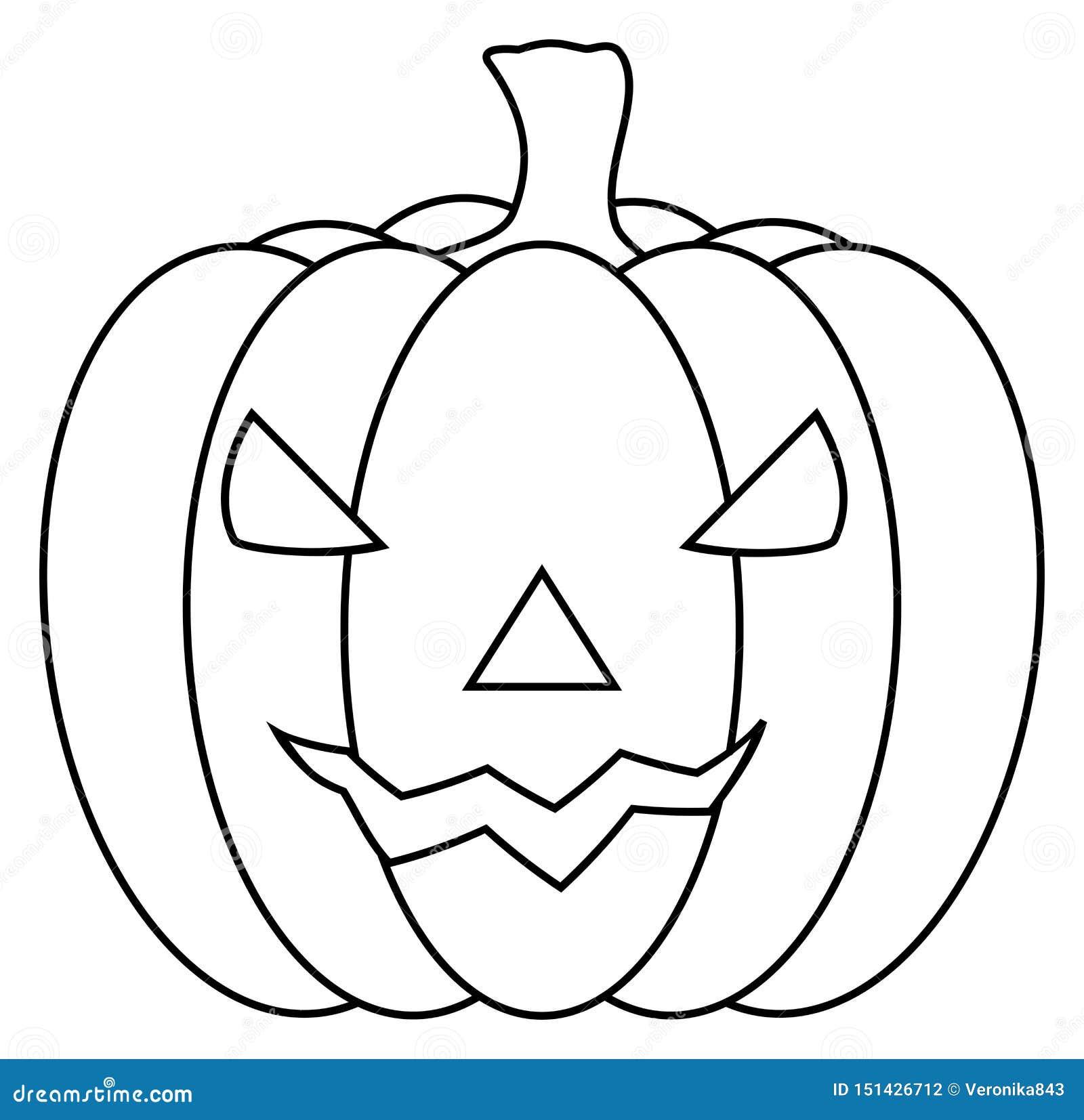 Halloween Carved Pumpkin Clipart Jack O Lantern Icon Vector Illustration Stock Vector Illustration Of Line Natural 151426712
