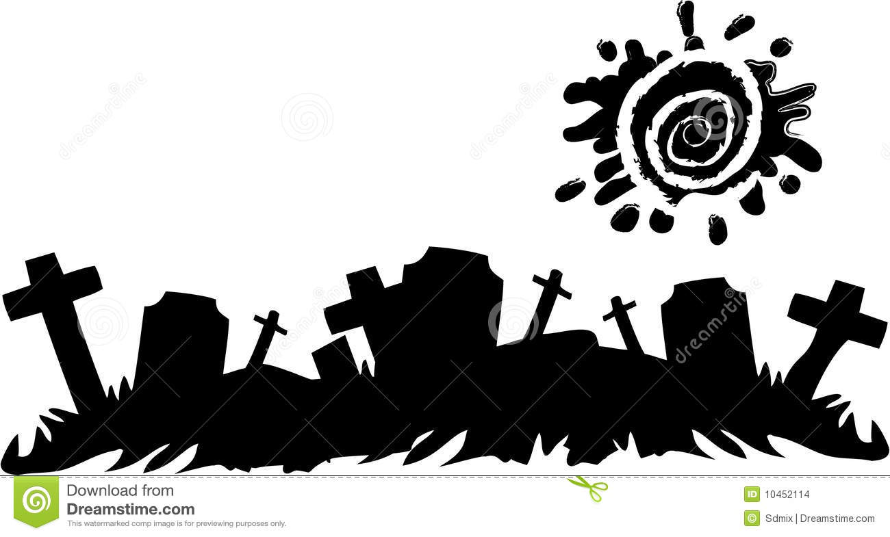 halloween cemetery banner stock images image 10452114 haunted house clip art black and white haunted house clipart images