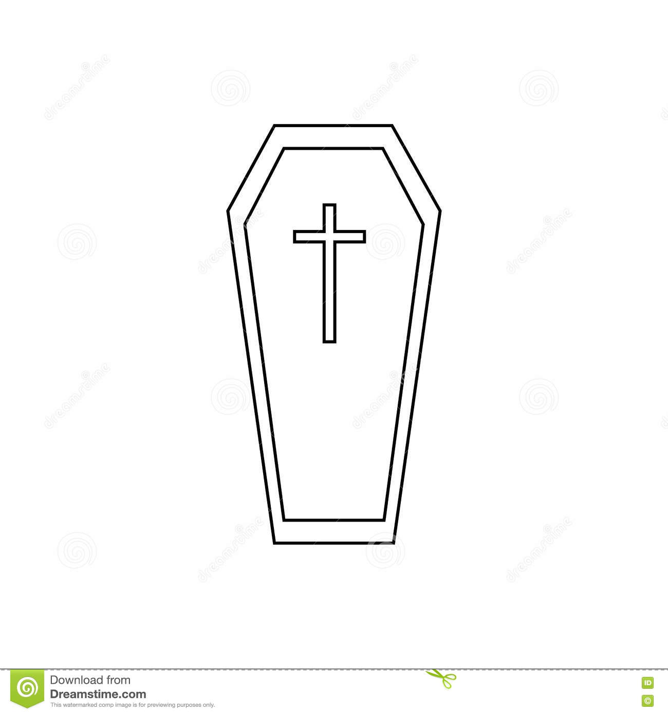 coffin icon  outline style vector illustration dracula clip art cape dracula clipart black and white