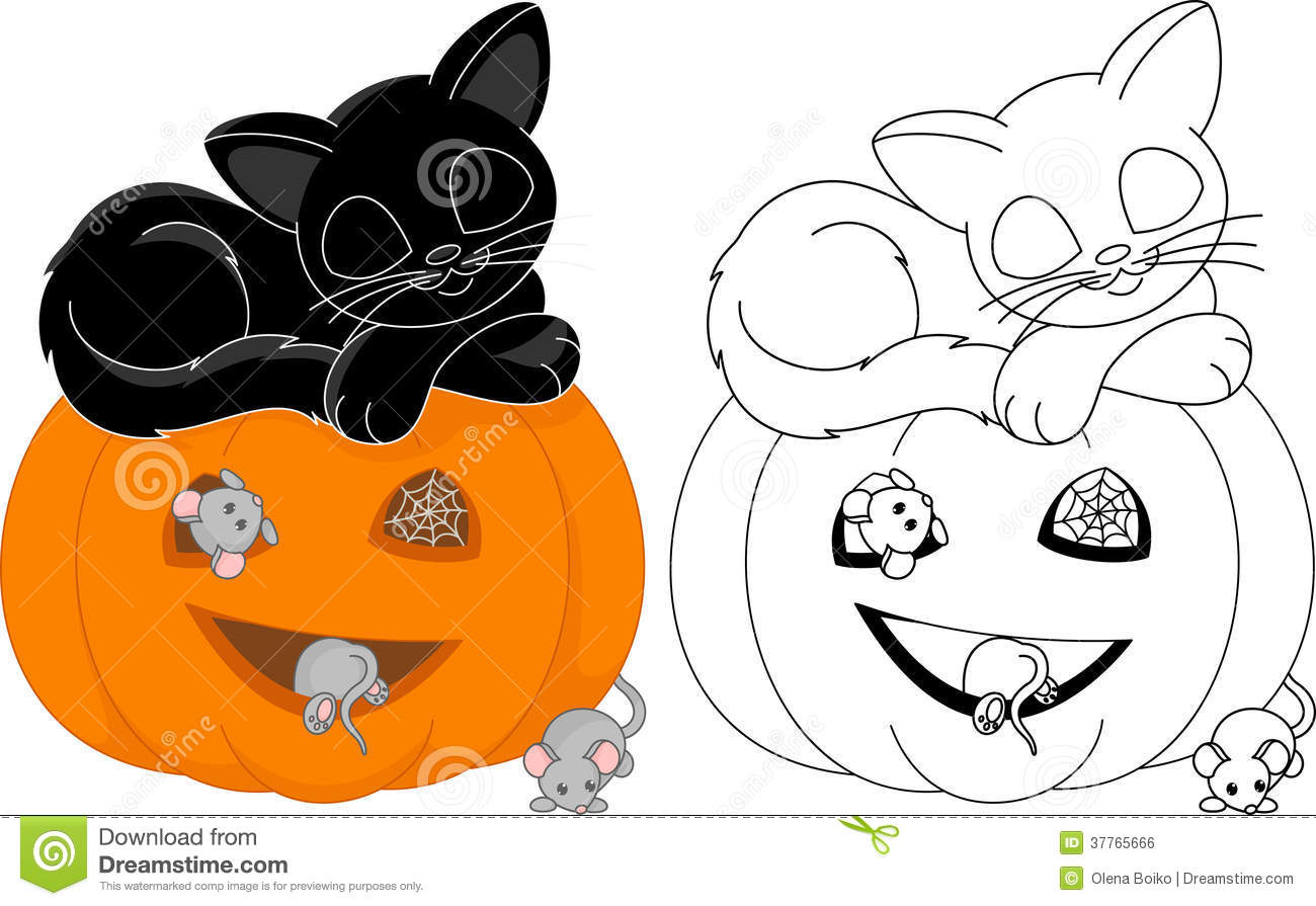 halloween coloring page cat sleeps pumpkin mice 37765666jpg 1300895 coloring pages pinterest