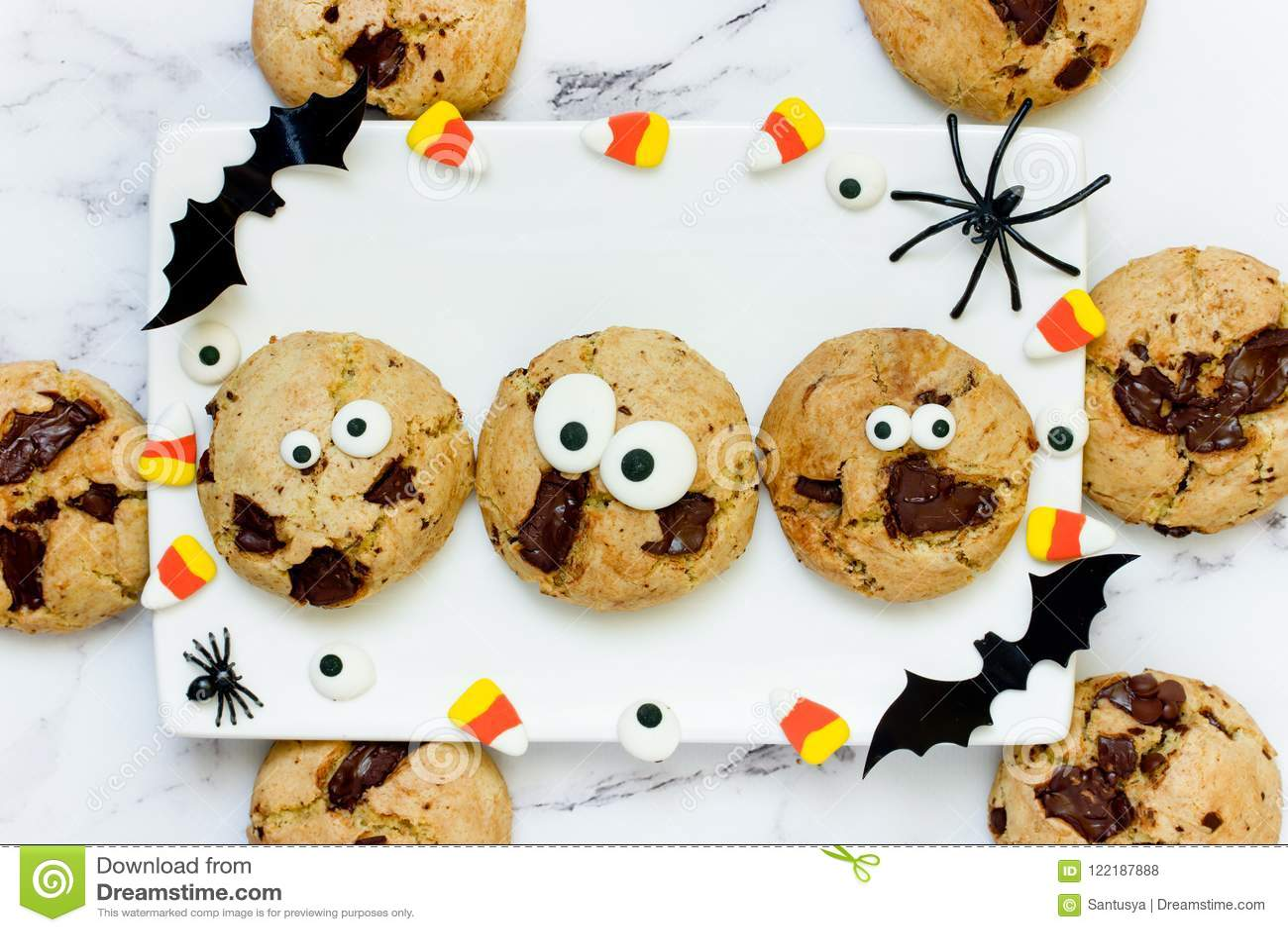halloween cookie stock photo. image of orange, decorated - 122187888