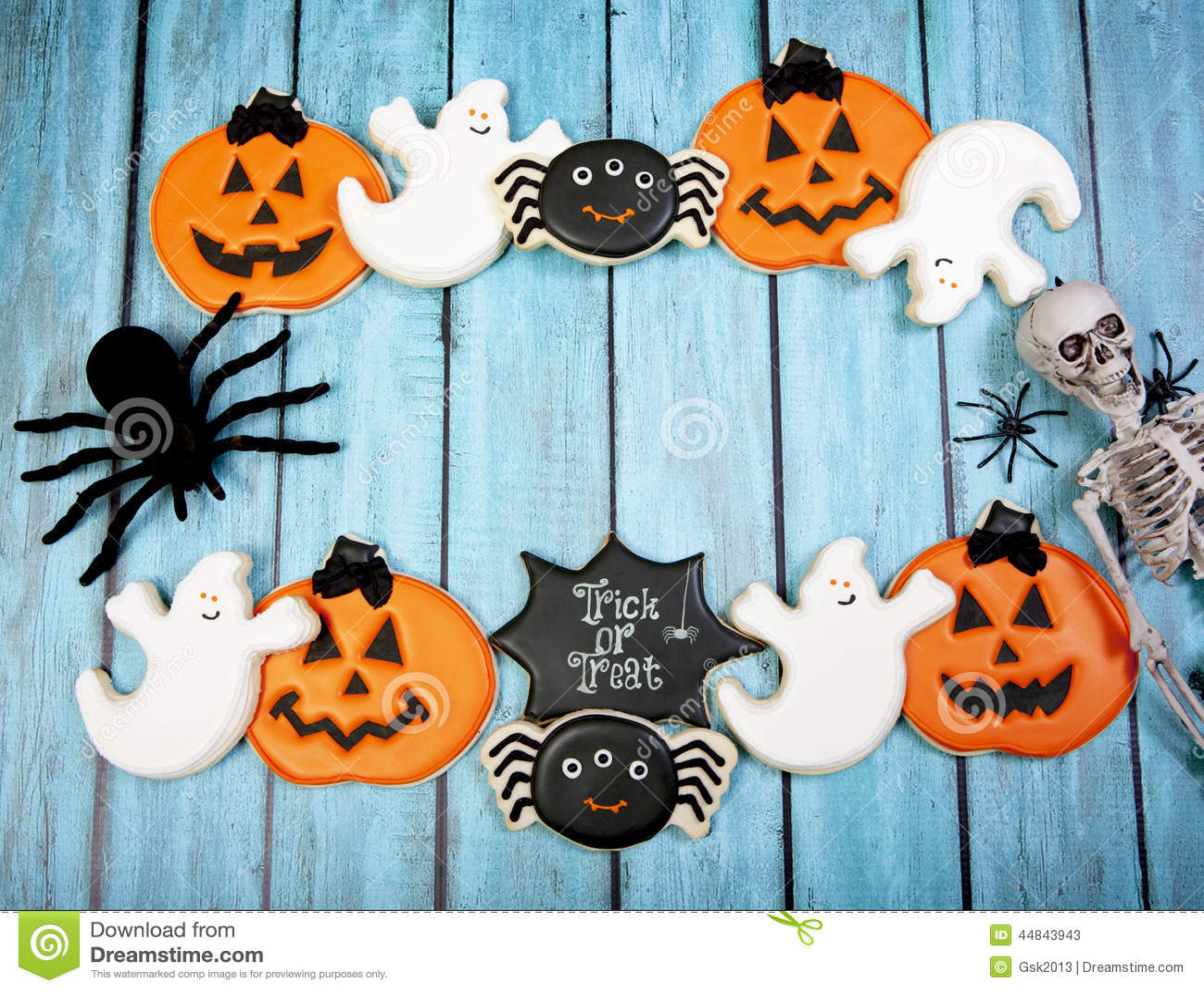 Halloween Cookies Background Stock Image - Image of spider ...