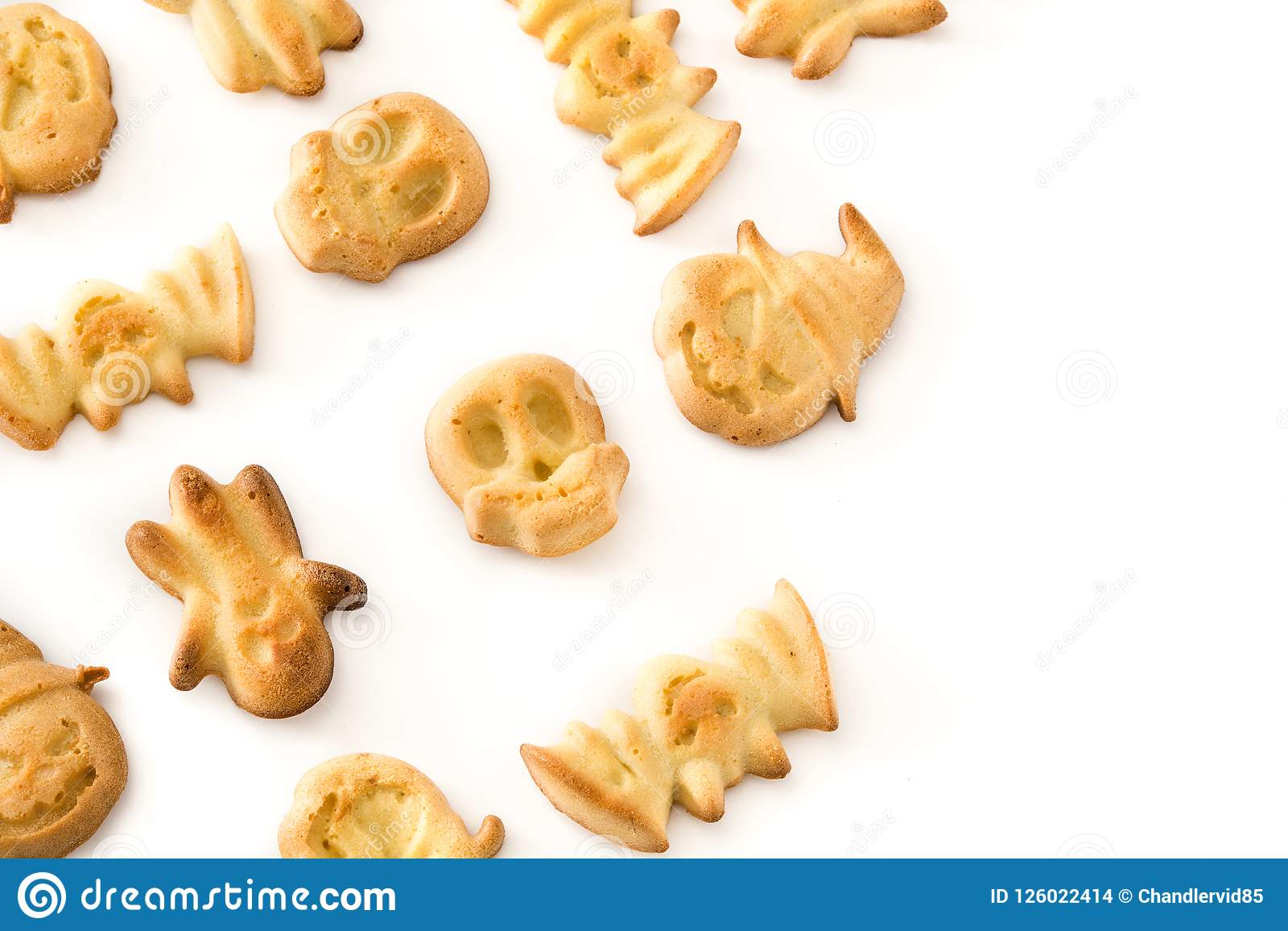 Halloween Cookies Isolated On White Background. Stock ...