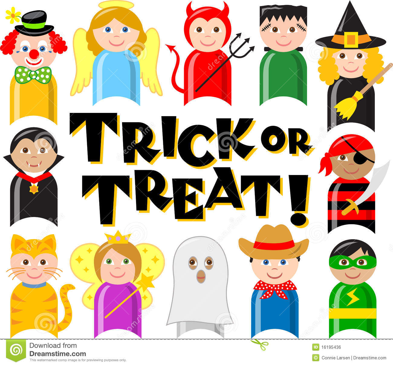 Halloween Costume Kids/eps Royalty Free Stock Image - Image: 16195436