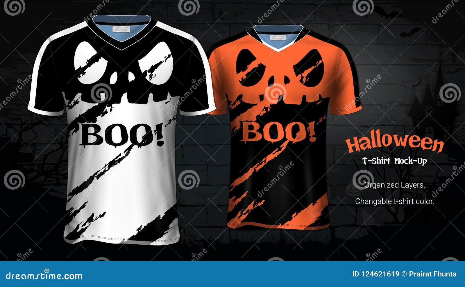 Halloween Costume T-Shirts Mockup Templates Stock Vector ...