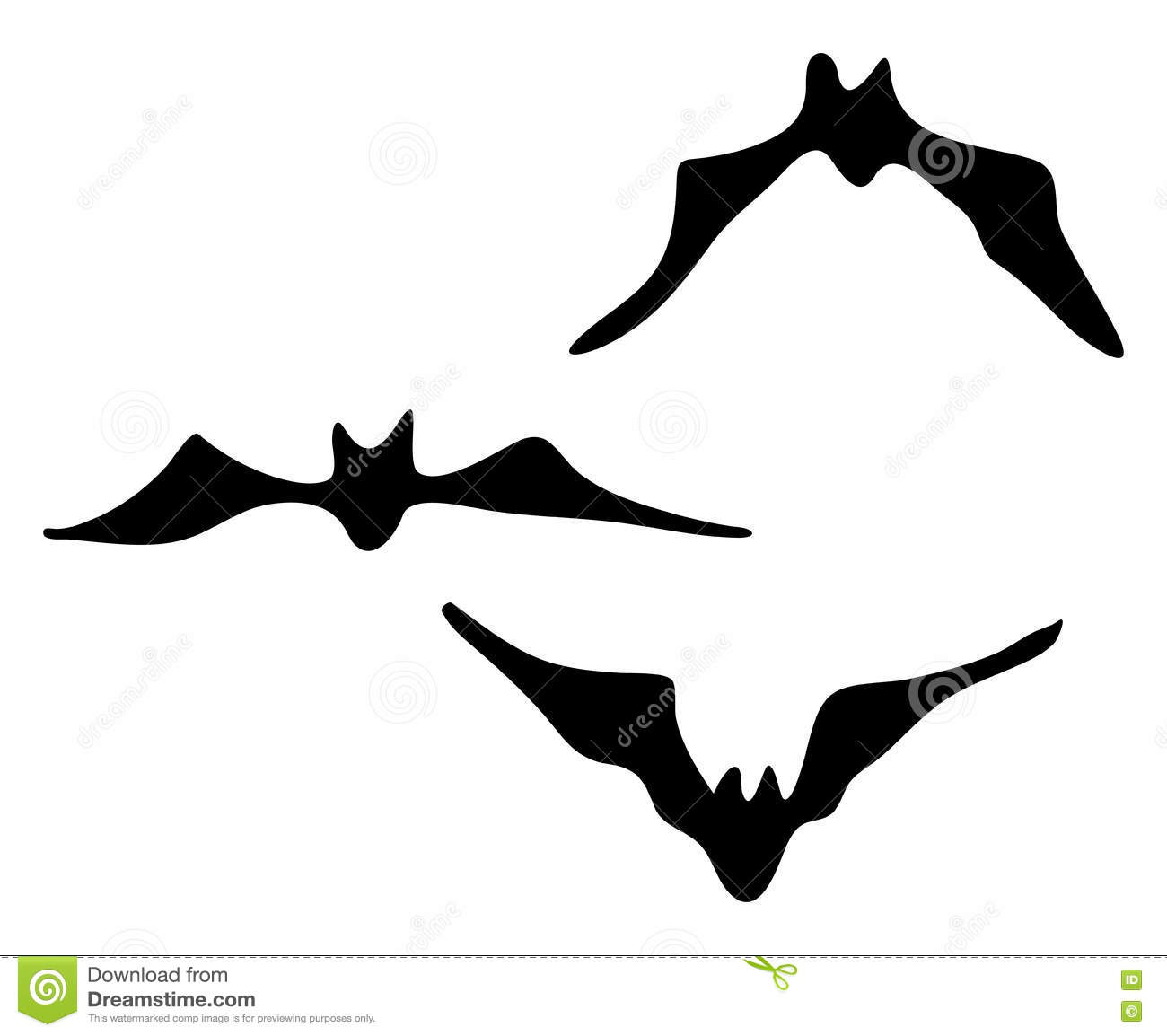 halloween creepy scary bat silhouette vector symbol icon design