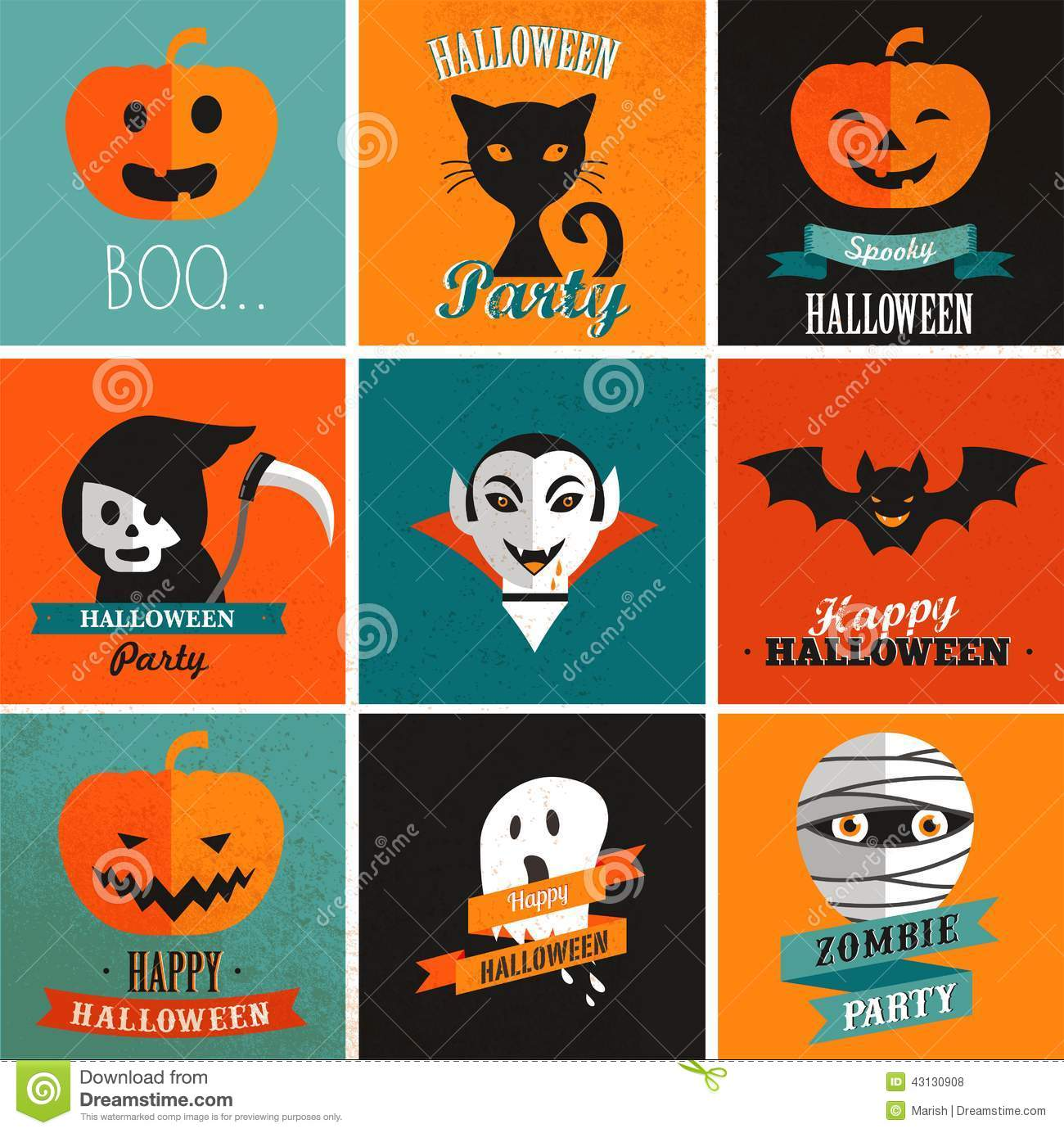 halloween cute set of icons stock vector image 43130908 haunted house vector png haunted house vector art