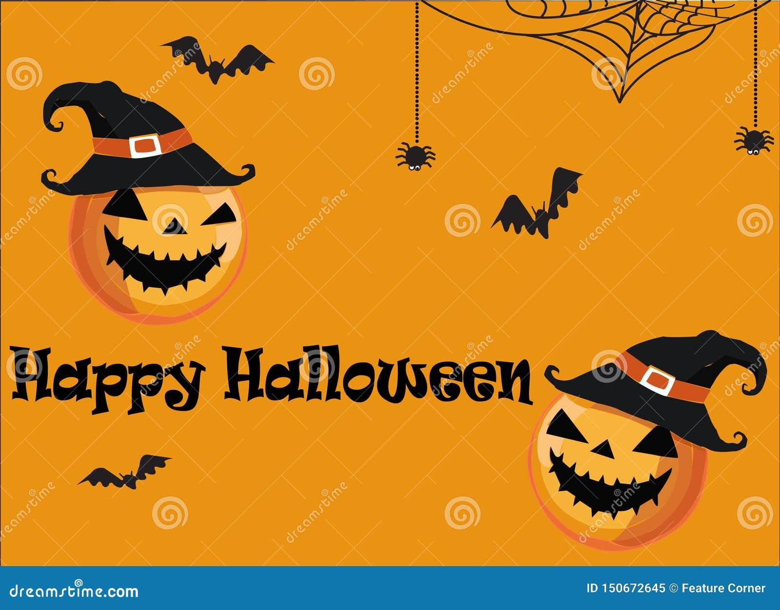 Halloween-de kaart vectorbeeld van de Partijgroet