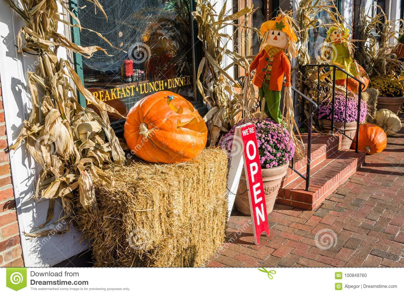 Outdoor Halloween Decorations Stock Photo Image Of Iron Background 100849760