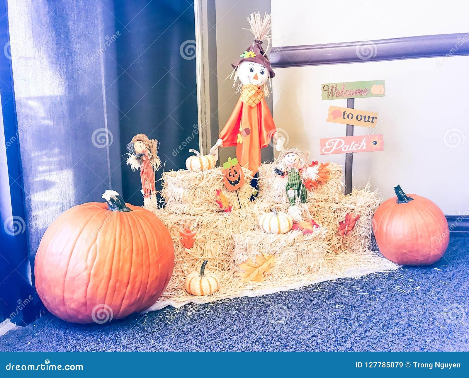 Halloween Dekoration Im Buro In Texas Amerika Stockbild Bild Von Halloween Amerika 127785079