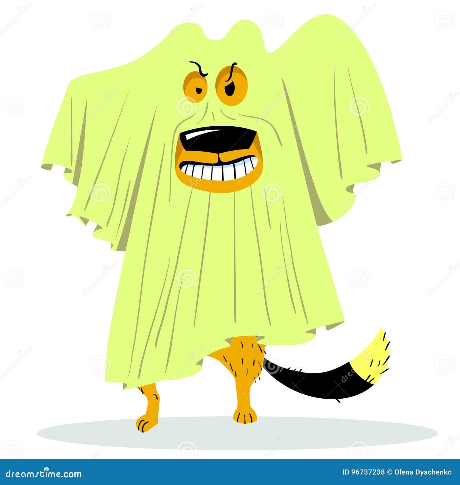 Cartoon Character Halloween Dog Stock Vector - Illustration of ...