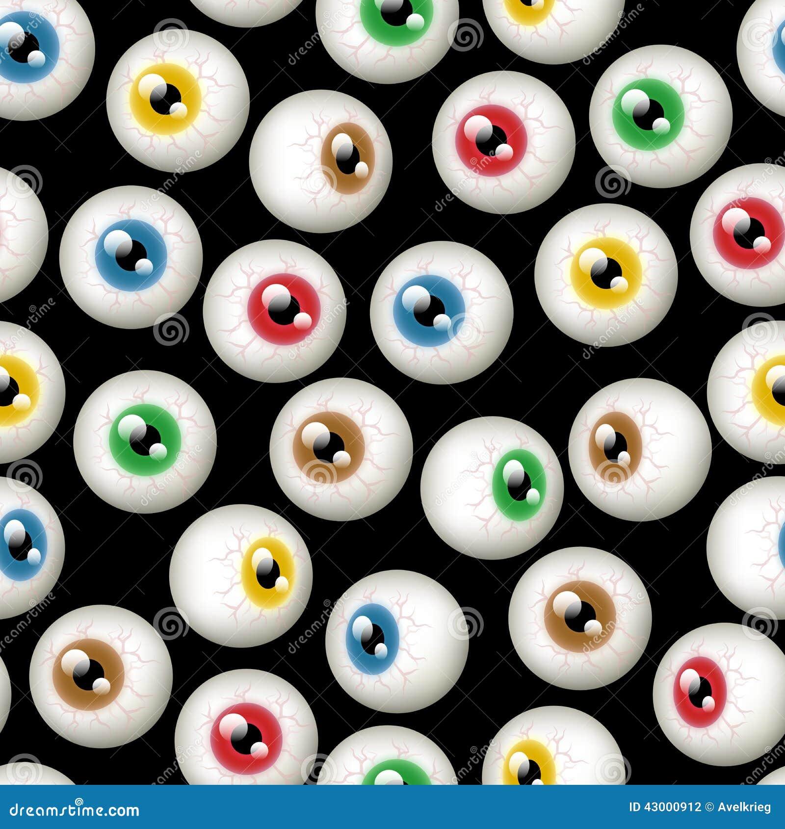 Halloween Eyeball Background Stock Illustration - Image ...