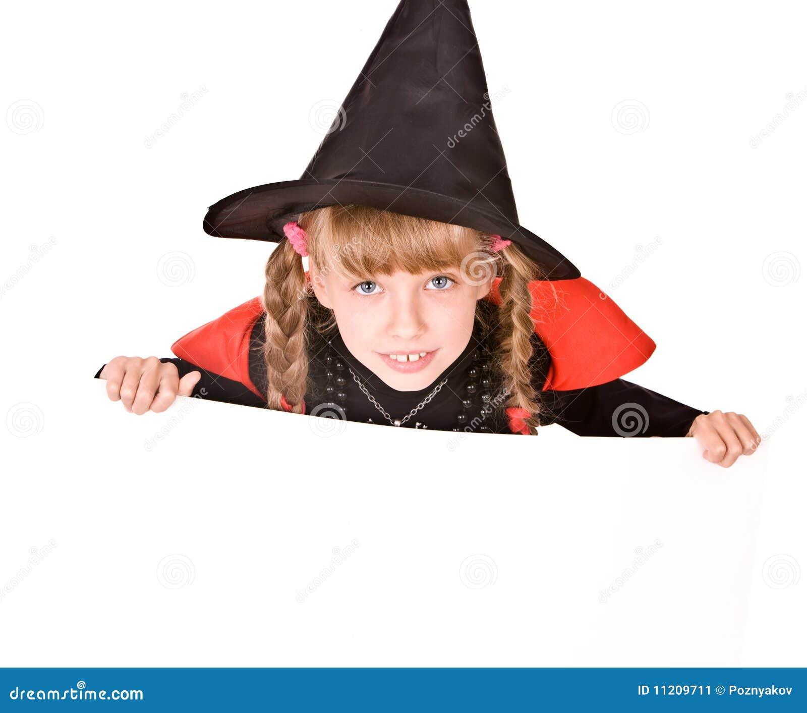 Halloween För Flicka För Banerbarndräkt Häxa Fotografering för ... f035d4f5b0a55