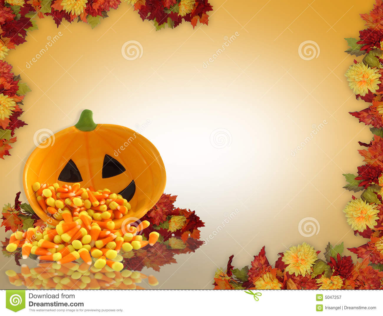 Halloween Or Fall Background Stock Illustration