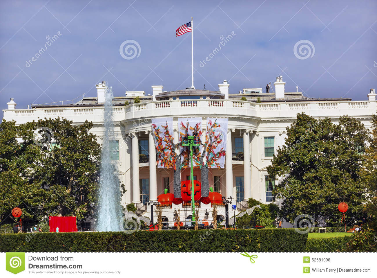 halloween fall decorations white house washington dc editorial stock photo - Commercial Halloween Decorations