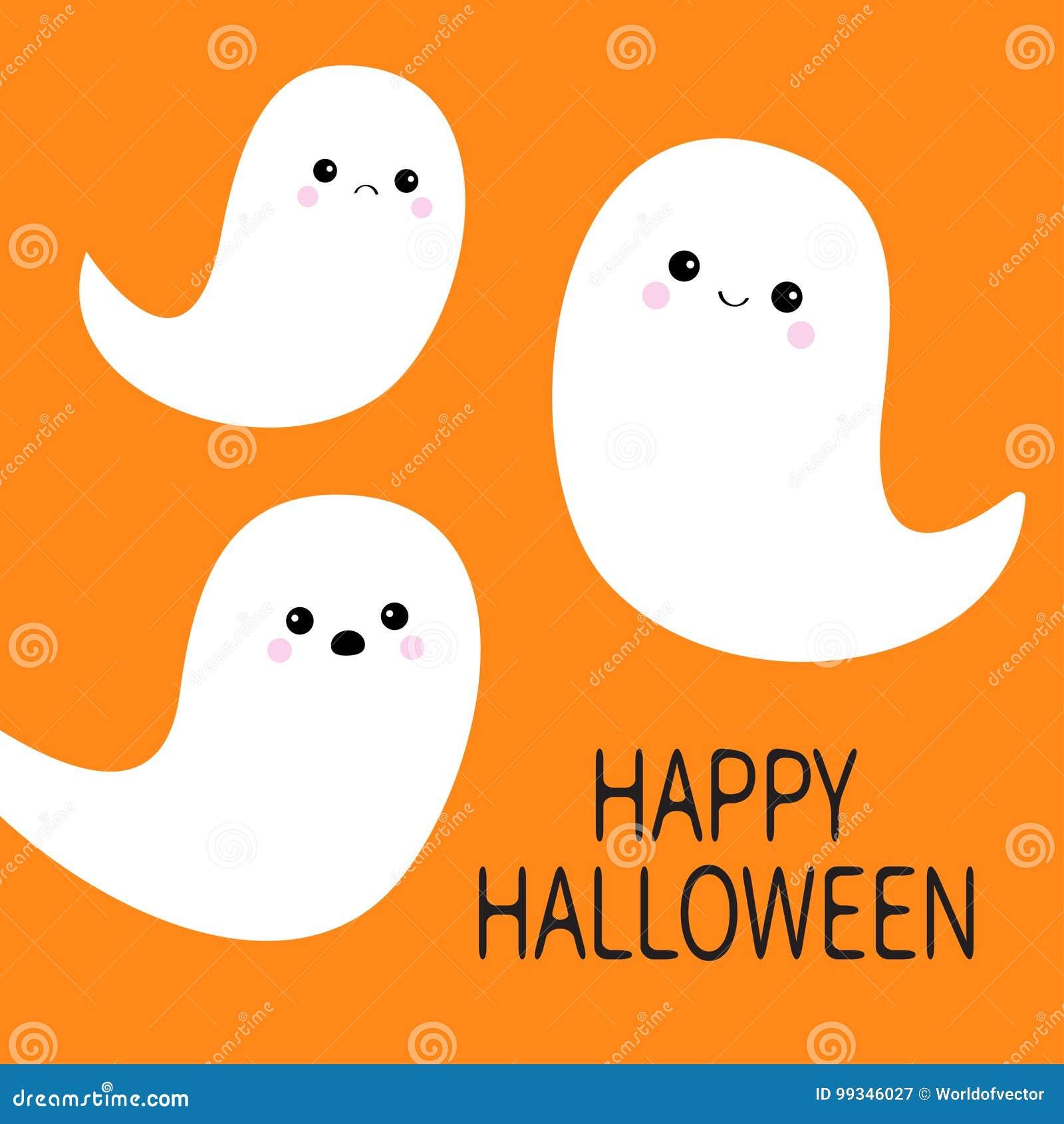 halloween feliz grupo do espírito do fantasma do voo três fantasmas