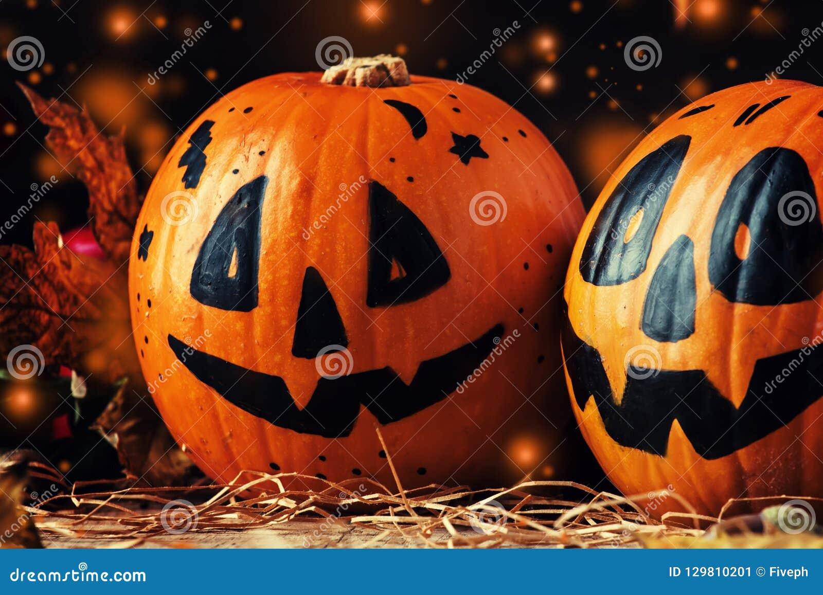 Pumpkin Drinking Straws Festive Spooky Orange Jack o Lantern Halloween Party