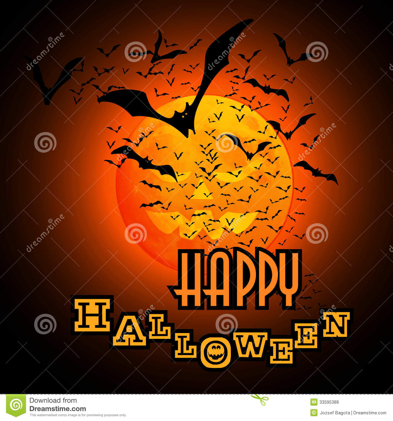 halloween flyer or cover design stock vector - illustration of glow
