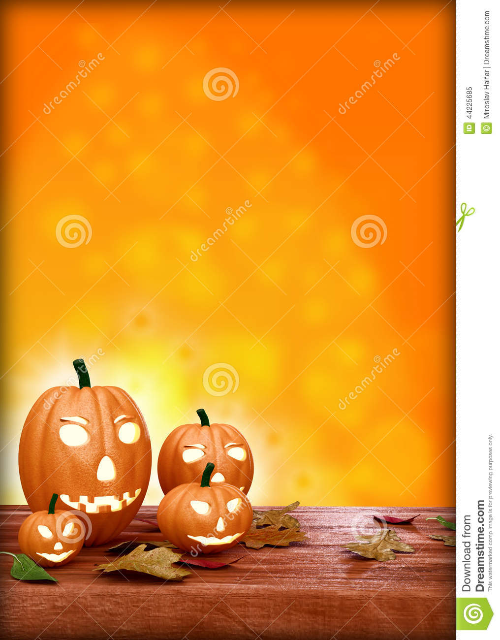 Halloween flyer design template with pumpkin stock illustration halloween flyer design template with pumpkin royalty free illustration saigontimesfo