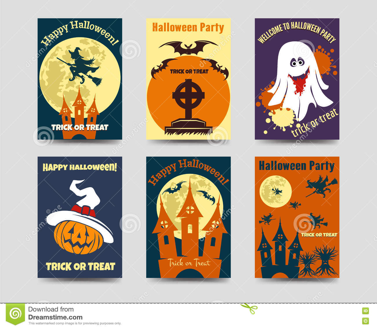 halloween flyers template stock vector illustration of menu 79511528